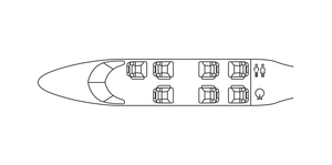 Avcon Jet Embraer Phenom 300 floorplan