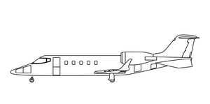 Avcon Jet Bombardier Learjet 60XR side