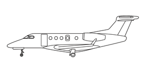 Avcon Jet Embraer Phenom 300 side