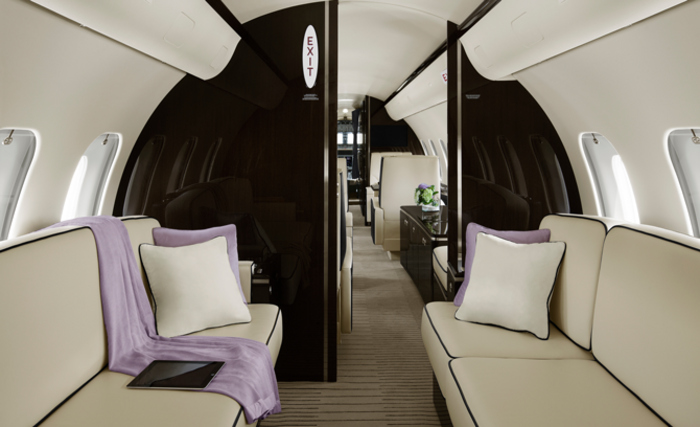 Bombardier Global 5000 cabin