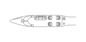 Avcon Jet Bombardier Learjet 60XR floorplan